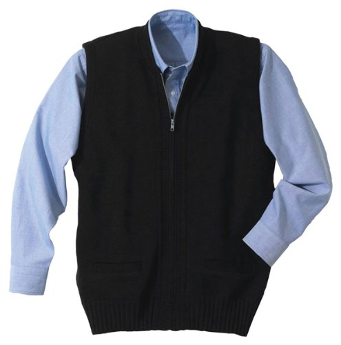 Edwards Full-Zip Heavyweight Acrylic Sweater Vest X-Large Navy