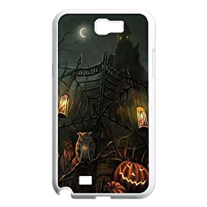 Scary Haunted House Gate Halloween Samsung Galaxy N2 7100 Cell Phone Case White toy pxf005_5994157