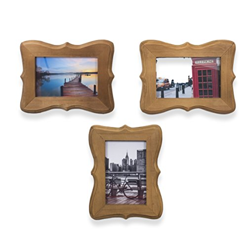 Wallniture Victorian Home or Office Decor Wood Picture Frames for 4x6 Inch Photos Walnut (3)