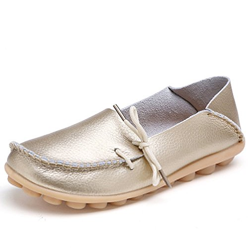 century-star-womens-fashion-leather-lace-up-driving-loafer-flats-slipper-boat-shoes-moccasin-gold-8-