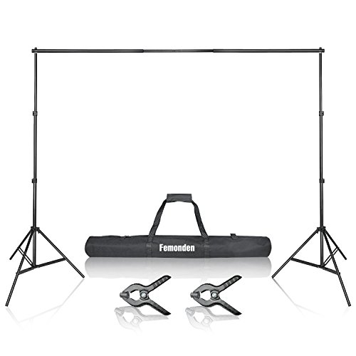 Photo Video Studio 10Ft Adjustable Backdrop Support System Stand Kit with Background stand and Backdrop Holders from Femonden