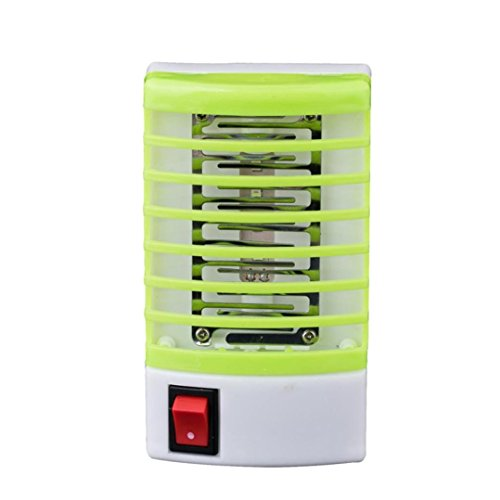 (Electric LED Insect Killer Mosquito Bug Fly Terminator, Trap with Socket (Green))