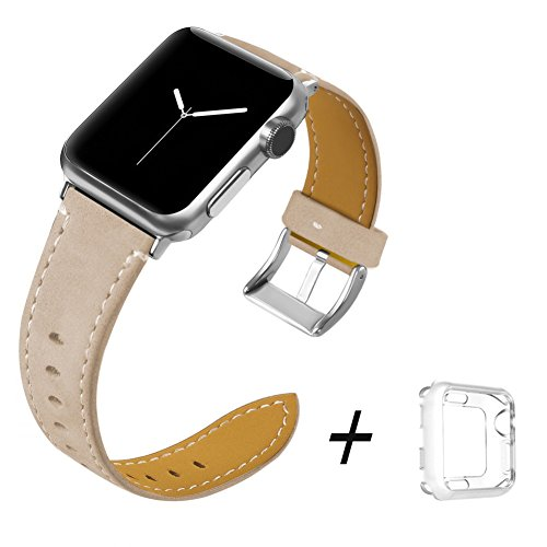 Trcode Women Leather Bands for iPhone Watch Ban...