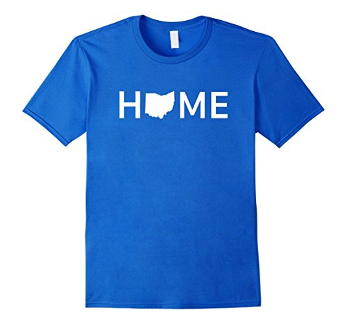 Mens Ohio Home Love U.S. State Outline Silhouette T-Shirt Medium Royal Blue
