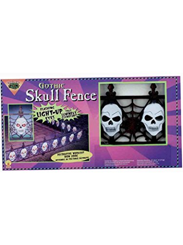 Gothic Skull Fence - Light Up (Creepy Border Fence)