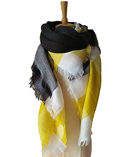 Lanzom Women Tartan Blanket Scarf Stylish Winter Warm Pashmina Wrap Shawl  Color 1