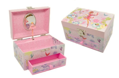 PERSONALISED CHILDS GIRLS MUSICAL BALLERINA JEWELLERY BOX WITH