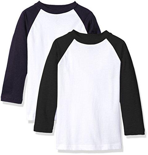 American Hawk Boys 2 Pack: Raglan Baseball Jersey T-Shirts