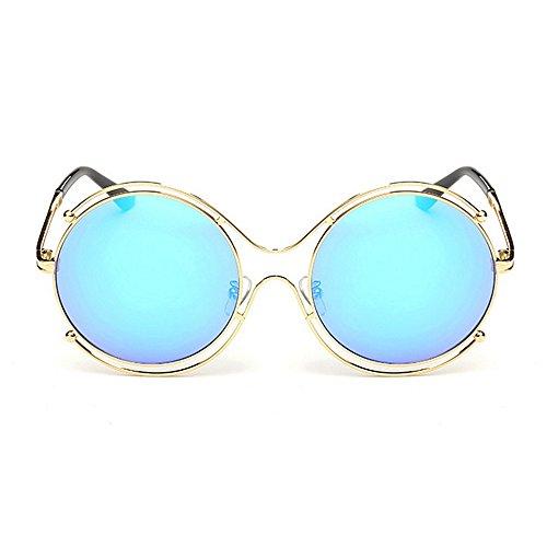 Gafas marco ULTRAVIOLETA sol sol unisex gato Ojos gafas bordeadas de del conducir redondas las Lente de Elegantes viajando de la de colorida Protección para de señora para colorida mujeres Azul gafas sol aq6xEOPXwP