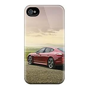 DateniasNecapeer Iphone 4/4s Hybrid Cases Covers Bumper Red Porsche Panamera