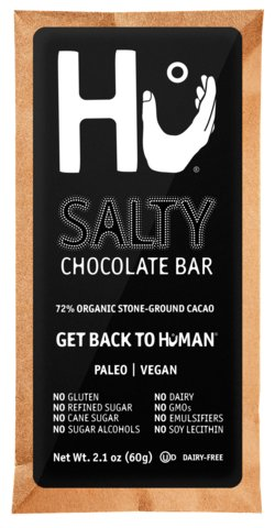 HU KITCHEN CHOCOLATE BARS 2.1 OZ Salty pack of 6