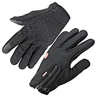 Handcuffs Fashion Warm Cycling Gloves (Standard, Black)