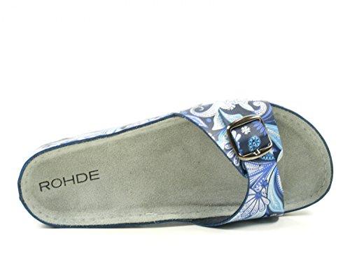 Femme Mules Riesa Mules Riesa Rohde Blau Rohde Femme Riesa Rohde Blau Mules fqzHxAwd