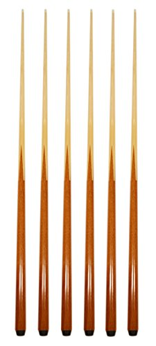 Pool Sticks Table - Set of 6 Pool Cues New 57