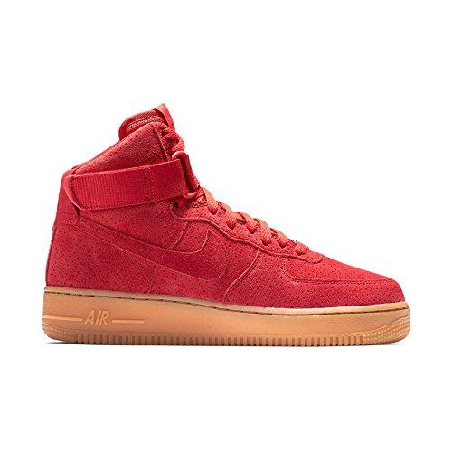 Nike Air Force 1 Hi Semsket Kvinners Basketball-sko 749266-601_7.5 - Universitet Rød / Universitet Rød