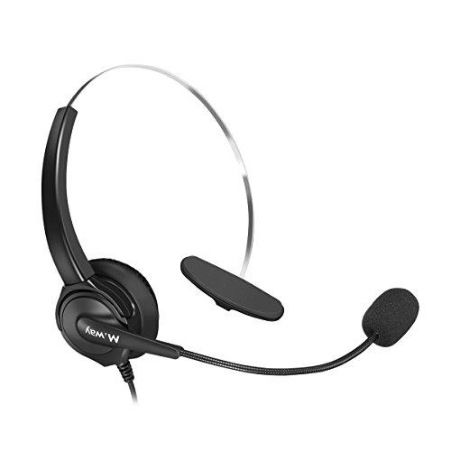 Binaural Crystal Head jack Headset, M.Way Hands-Free Noise...
