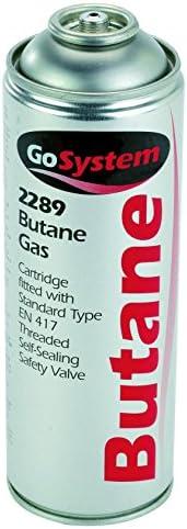 GoSystem Butane Gas Cartridge - Silver, 277 g