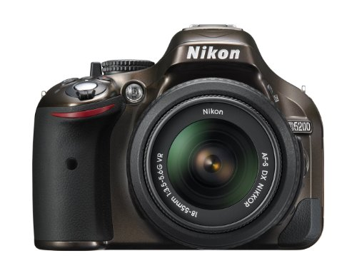 Nikon D5200 24.1 MP CMOS Digital SLR with 18-55mm f/3.5-5.6 AF-S DX VR NIKKOR Zoom Lens (Bronze) (Discontinued by Manufacturer) ()