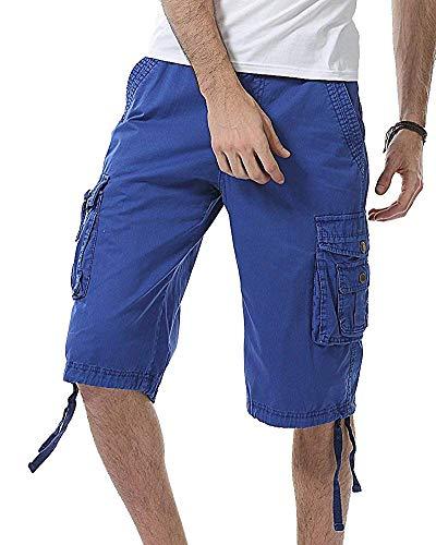 Blue Fuweiencore Cachi Casual Pantaloncini Sapphire Combattimento Bicchierini Da colore Dimensione Uomo Semplici Passeggio 32 qqxwOZTRF