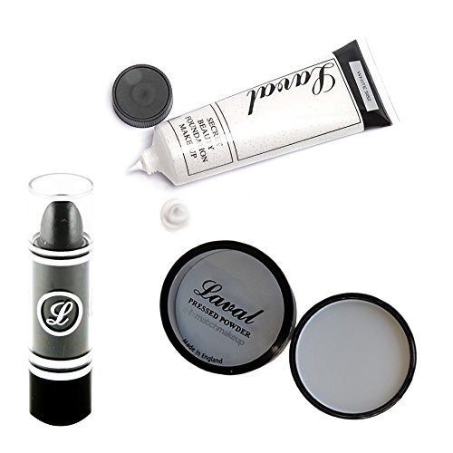 Laval Goth Look Makeup Bundle ideal to make your Halloween,Vampire Witch, Goth, Punk, Emo, Vamp by Laval