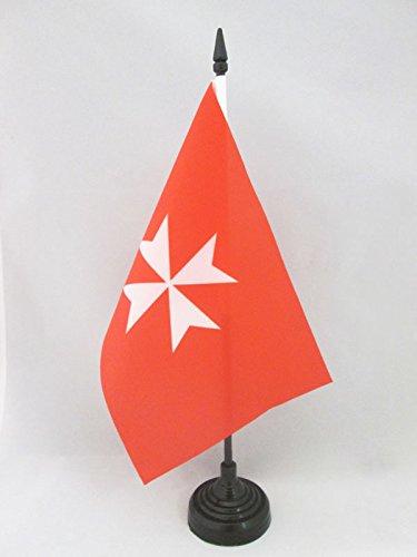 BANDIERA DA TAVOLO ATTIVITÀ SOVRANO ORDINE DI MALTA 21x14cm - PICCOLA BANDIERINA SAN GIOVANNI DI GERUSALEMME 14 x 21 cm - AZ FLAG