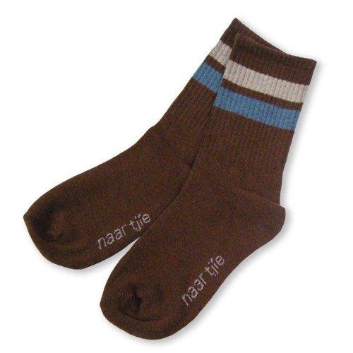 Naartjie Kids Boys Sports Cotton Crew Socks Rib Stripe 6 Pairs Pack Assorted Colors