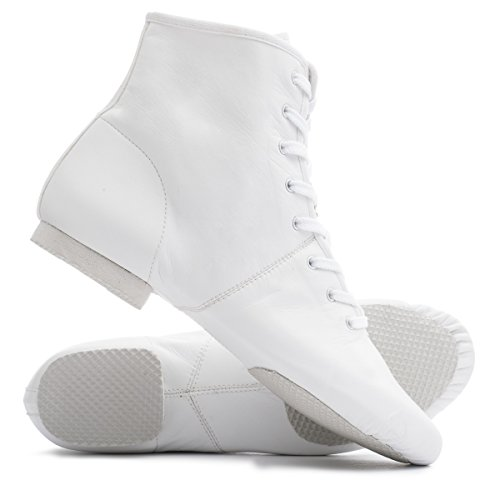 Black Tan Lace Dancewear Boot White PU Rubber Katz Jazz By Up Split White Dance Or Shoes Stage Practice Sole wnE00dTqfx
