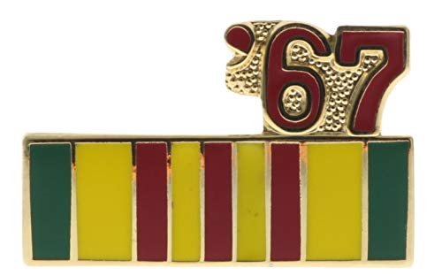 Sujak Military Items Vietnam Service Ribbon 1967 Hat or Lapel Pin HON14795