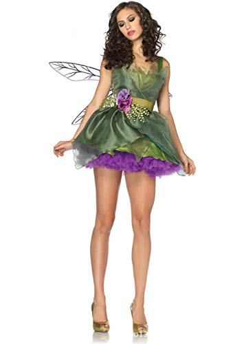 LOVELONG Adult Green Forest Elf Armor Cosplay Halloween Costume Sexy Game Uniform for $<!--$28.99-->