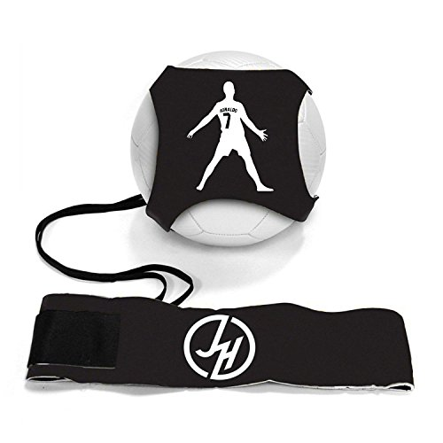 iSport Gifts Ronaldo #7 StarKick Solo Soccer Trainer Aid ✓ Adjustable Soccer Training Belt Rebounder ✓ Fits Soccer Ball Size three, 4 & 5BALL NOT INCLUDED – DiZiSports Store