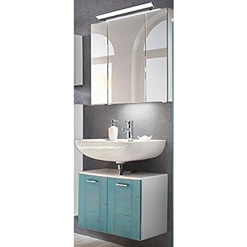 Lomadox Landhaus Badezimmer Waschplatz Set mit Massivholzfronten ...