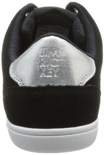 Jim Rickey Carve Lo Suede Mesh - Zapatillas de Deporte de ante hombre negro - Noir (Black Electric Blue)