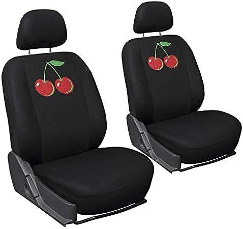 Motorup America 17PC Seat Cover Set Cherry
