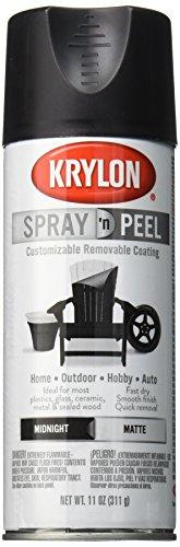 Krylon K09930007 Spray 'n Peel Paint, Matte Midnight, 11 Ounce