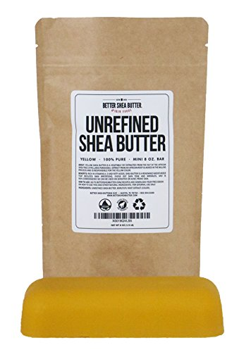 - Yellow Shea Butter - Raw, 100% Pure, Unrefined, Fresh - Moisturizing, Ideal for Dry and Cracked Skin and Eczema - Use on Body, Face and Hair - 8 oz by Better Shea Butter