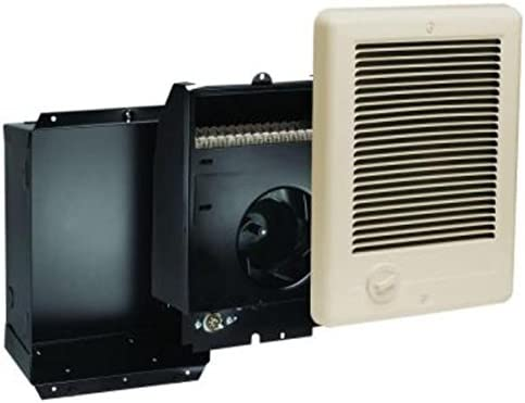 Cadet Com-Pak Plus 9 in. x 12 in. 1,000-Watt 240 Volt Fan-Forced in-Wall Electric Heater Almond