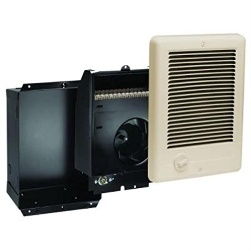 Cadet Com-Pak Plus 9 in. x 12 in. 1,500-Watt 120 Volt Fan-Forced In-Wall Electric Heater Almond