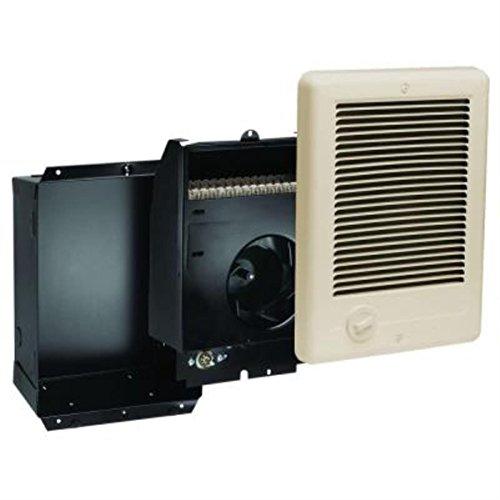 Cadet Com-Pak Plus 9 in. x 12 in. 1,500-Watt 120 Volt Fan-Forced in-Wall Electric Heater Almond