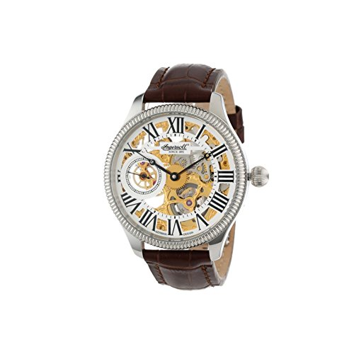 Ingersoll Men's IN7904WHG Arizona II Mechanical Timepiece Gold Tone Skeleton Watch