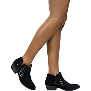 Top Moda Women's Cut Ankle Booties