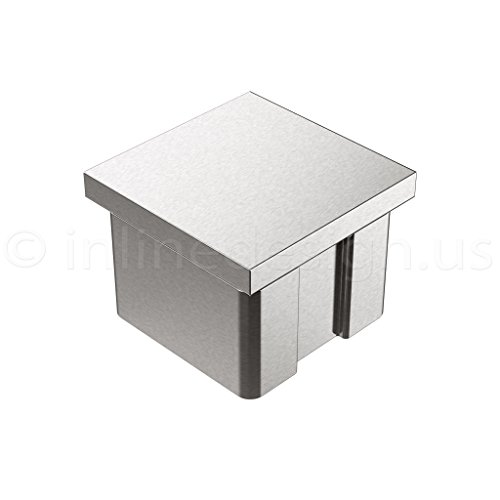 Inline Design Stainless Steel End Cap Square (Square Post Tube)