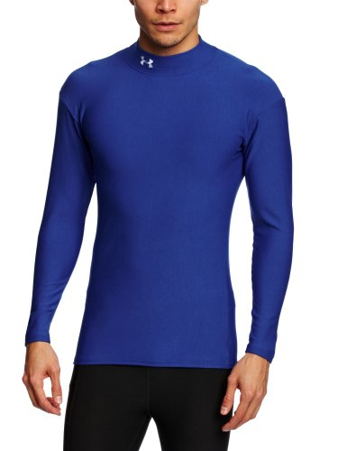 Under Armour Aggression ColdGear Mock Neck Top - Small - Blue