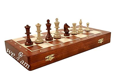 Wooden Tournament Staunton Nr4 Chess Set 16x16 Inchess