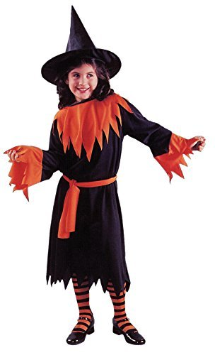 Girls Wendy The Witch Kids Child Fancy Dress Party Halloween Costume, M (8-10) ()
