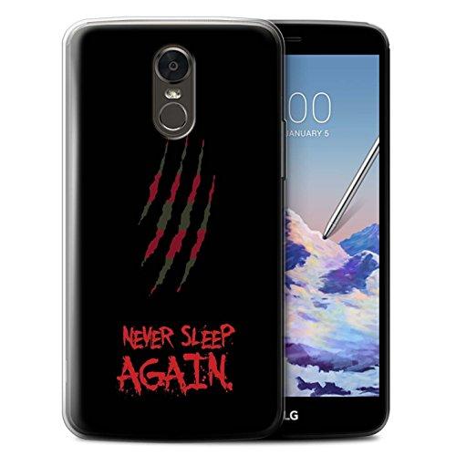 STUFF4 Gel TPU Phone Case/Cover for LG Stylus 3/Stylo 3/K10 Pro/Freddy Krueger Inspired Art Design/Horror Movie Art Collection