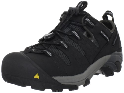 KEEN Utility Men's Atlanta Cool Steel Toe Work Shoe,Black,8.5 EE US