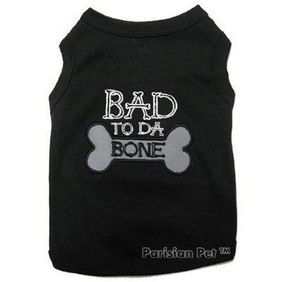 BAD TO DA BONE - Embroidered Pet Dog Shirt (Large)
