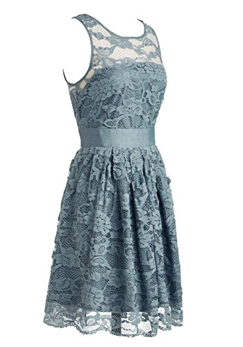 Gowns Wedding Prom Flora Formal Silver Dresses Bridesmaid Dress Evening Lace Short Cdress w8OX6qvX