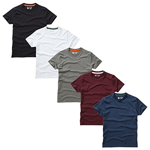 Essentials De 22 Unis Type À 5 shirts T Rond Charles Pack Col Wilson qawvEE