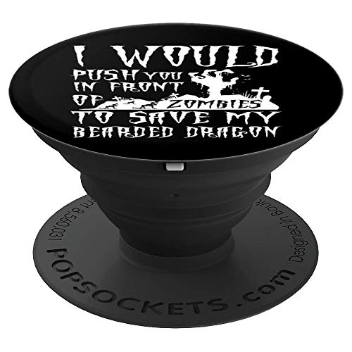 Bearded Dragon Dad Gift Father's Day Halloween Zombies - PopSockets Grip and Stand for Phones and Tablets]()